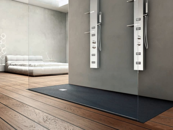 receveur de douche en r sine. Black Bedroom Furniture Sets. Home Design Ideas