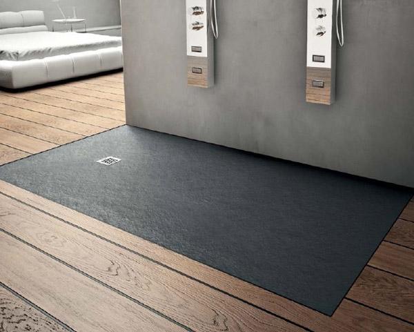 accessoires receveur de douche en r sine. Black Bedroom Furniture Sets. Home Design Ideas